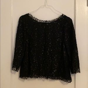 Joie lace shimmer blouse